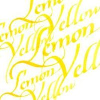 094376907155-W&N CALLIGRAPHY INKS [SWATCH] LEMON YELLOW (For screen)