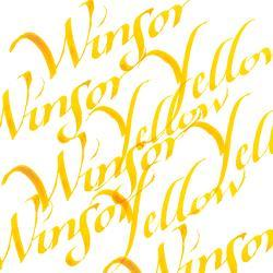 094376907162-W&N CALLIGRAPHY INKS [SWATCH] WINSOR YELLOW (For screen)