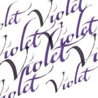 094376907193-W&N CALLIGRAPHY INKS [SWATCH] VIOLET (For screen)