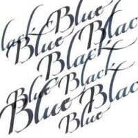094376907230-W&N CALLIGRAPHY INKS [SWATCH] BLUE BLACK (For screen)