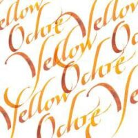 094376907247-W&N CALLIGRAPHY INKS [SWATCH] YELLOW OCHRE (For screen)