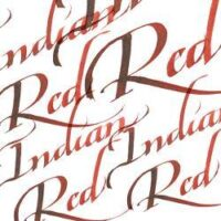 094376907254-W&N CALLIGRAPHY INKS [SWATCH] INDIAN RED (For screen)