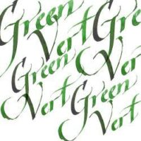 094376907278-W&N CALLIGRAPHY INKS [SWATCH] GREEN VERT (For screen)