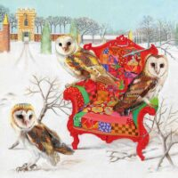 Owls On A Patchwork Chair