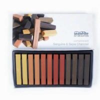 Seawhite Compressed Sanguine & Sepia Charcoal