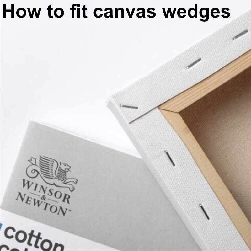 How to fit canvas wedges
