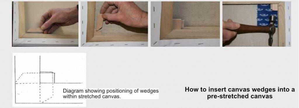 Insert Canvas Wedges - How To