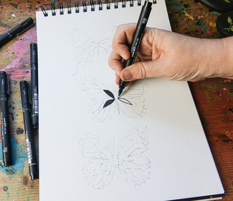 uni-PIN Fine Liner Drawing Exercise